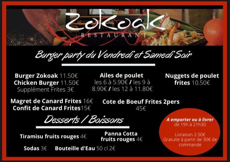 Menu #12 - Mai 2020   Restaurant Zokoak